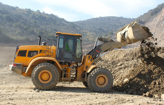 Shovel loader performing groundworks